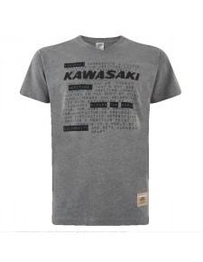 T-Shirt gris chiné homme Kawasaki (S à 3XL) | Moto Shop 35