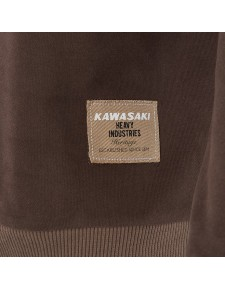 Détail sweat-Shirt marron homme Kawasaki DOHC (S à 3XL) | Moto Shop 35