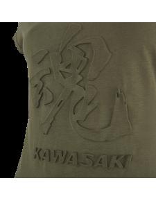 Détail T-Shirt femme Kawasaki Tamashii (XS à 2XL) | Moto Shop 35