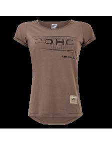T-Shirt femme Kawasaki DOHC marron (XS à 2XL) | Moto Shop 35