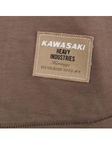 Détail T-Shirt femme Kawasaki Tamashii marron (XS à 2XL) | Moto Shop 35