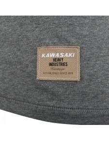 Détail T-Shirt gris chiné femme Kawasaki (XS à 2XL) | Moto Shop 35