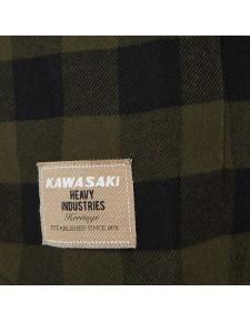 Détail chemise à carreaux Kawasaki femme (XS à 2XL) | Moto Shop 35