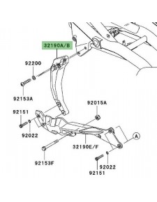 Support moteur avant gauche Kawasaki Z750 (2007-2012)   Moto Shop 35