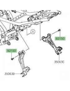 Vis (M8 x 20) pour fixation platine repose-pieds arrière Kawasaki Z650 (2017 et +)   Réf. 921501760