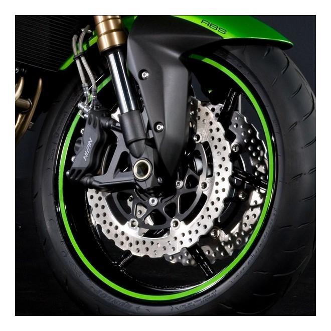 Kit liserés de jante vert (une roue) Kawasaki | Réf. 197BWT0004
