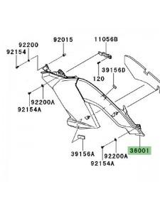 Habillage sous-réservoir gauche Kawasaki Versys 1000 (2012-2014)   Réf. 3600105706Z