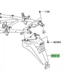 Support de plaque d'immatriculation Kawasaki Versys 1000 (2012-2014)   Réf. 350150015
