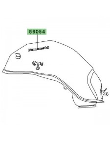 """Autocollant """"Kawasaki"""" réservoir Kawasaki Versys 1000 (2012-2014)   Moto Shop 35"""