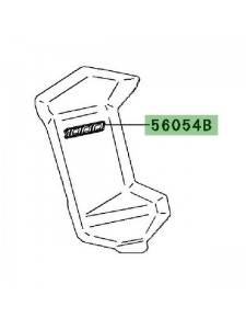 "Autocollant ""Versys"" écope de radiateur Kawasaki Versys 1000 (2012-2014)   Réf. 560540930"