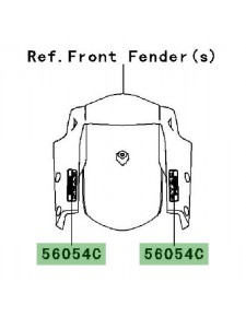 "Autocollant ""KTRC"" garde-boue avant Kawasaki Versys 1000 (2012-2014)   Moto Shop 35"