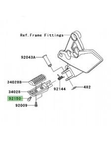 Téton de repose-pieds Kawasaki Versys 1000 (2012-2021) | Réf. 921501114
