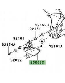 Platine repose-pieds avant Kawasaki Versys 1000 (2012-2014) | Réf. 350630843