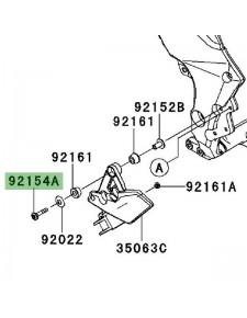 Vis (M8 x 37) pour fixation platines repose-pieds avant Kawasaki Versys 1000 (2012-2014) | Réf. 921540799