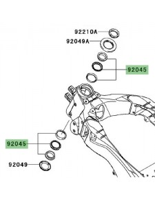 Roulement de direction Kawasaki Versys 1000 (2012-2014) | Réf. 920451384