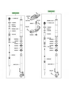 Bras de fourche complet Kawasaki Versys 1000 (2012-2014) | Moto Shop 35