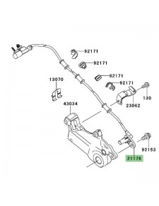 Câble ABS arrière Kawasaki Versys 1000 (2012-2018)   Réf. 211760722