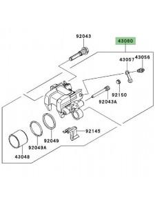 Étrier de frein arrière Kawasaki Versys 1000 (2012-2018)   Réf. 430800050DJ