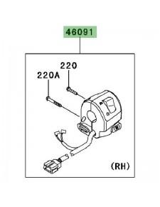 Commodo droit Kawasaki Versys 1000 (2012-2018)   Réf. 460910252