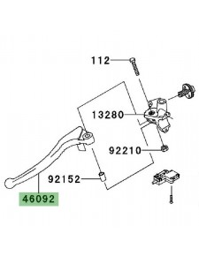 Levier d'embrayage Kawasaki Versys 1000 (2012-2014)   Réf. 460920003