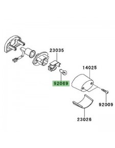 Ampoule éclairage de plaque Kawasaki Versys 1000 (2012-2014)   Réf. 920691055
