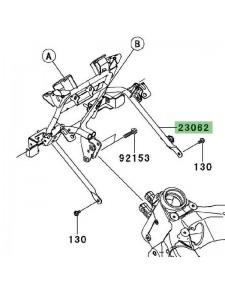 "Support tête de fourche ""araignée"" Kawasaki Versys 1000 (2012-2014)   Réf. 230620773"