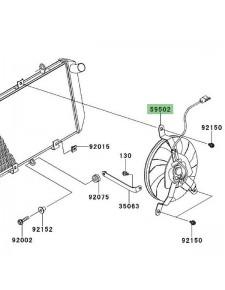 Ventilateur Kawasaki Versys 1000 (2012-2014)   Réf. 595020612