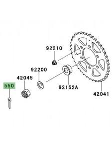 Goupille écrou de roue arrière Kawasaki Versys 1000 (2012-2014) | Réf. 550AA4035
