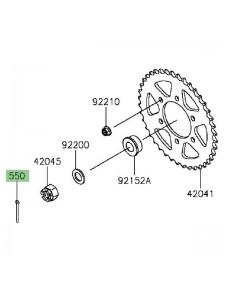 Goupille écrou de roue arrière Kawasaki Versys 1000 (2015-2021)   Réf. 550AA4040