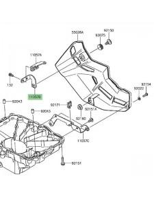 Pattes fixation avant droite sabot moteur Kawasaki Z900 (2017-2019) | Réf. 110570294
