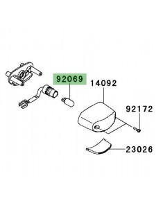 Ampoule (12V/5W) éclairage de plaque Kawasaki Z1000SX (2011-2019) | Réf. 920691016