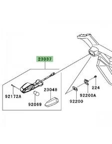 Clignotant arrière gauche Kawasaki Z1000SX (2011-2013) | Réf. 230370237