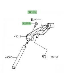 Vis M10x37 pour fixation demi-guidon Kawasaki Ninja 650 | Réf. 921531440