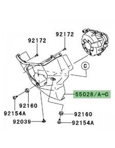 Sabot moteur gauche Kawasaki Z1000SX (2014-2016) | Moto Shop 35
