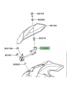 Patte support bulle d'origine Kawasaki Z1000 (2003-2006) | Réf. 110531161