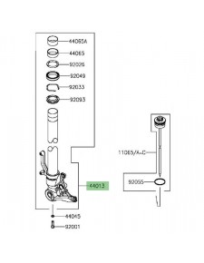 Tube de fourche gauche Kawasaki Z1000SX (2014-2016) | Réf. 440130223