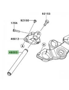 Demi-guidon gauche Kawasaki Z1000SX (2014-2016) | Réf. 460030625