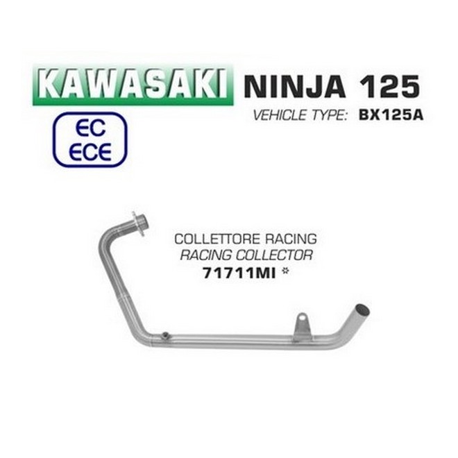 Collecteur racing Arrow Kawasaki Ninja 125 et Z125 (2019 et +) | Réf. 71711MI