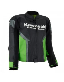 Blouson en cuir (S - 3XL) Kawasaki Racing Team | Moto Shop 35