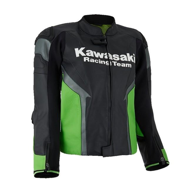 Blouson en cuir (S - 3XL) Kawasaki Racing Team   Moto Shop 35