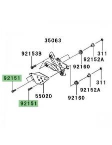 Vis (M6x25) pour fixation des protections de talon Kawasaki Z750 (2007-2012) | Réf. 921511924