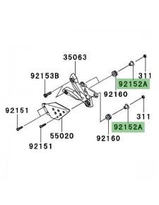 Rondelle épaulée platines repose-pieds Kawasaki Z750 (2007-2012)   Réf. 921521074