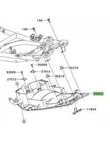 Passage de roue Kawasaki Er-6f (2006-2008) | Réf. : 350230076