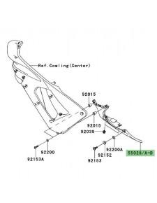 Sabot gauche flanc de carénage Kawasaki Er-6f (2006-2008) | Moto Shop 35
