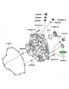 Hublot de carter d'embrayage Kawasaki Er-6f (2006-2016) | Réf. 520050071
