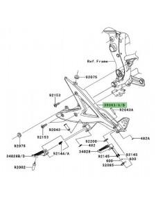 Platine repose-pieds Kawasaki Er-6f (2006-2008)