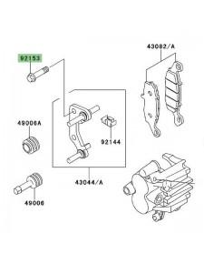 Vis M10x41 pour fixation étrier de frein avant Kawasaki Er-6f (2006-2008) | Réf. 921530587