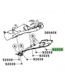 Rivet plastique Kawasaki Z750 (2007-2012) | Réf. 920391256