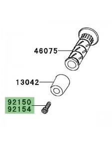 Vis fixation d'embout de guidon Kawasaki Er-6f (2009-2011) | Réf. 921501604 - 921540440