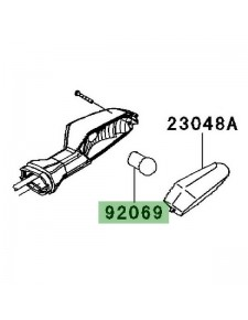 Ampoule (12V/10W) de clignotant arrière Kawasaki Er-6f (2009-2011) | Réf. 920690076